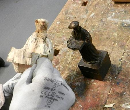 beeldhouwen in hout