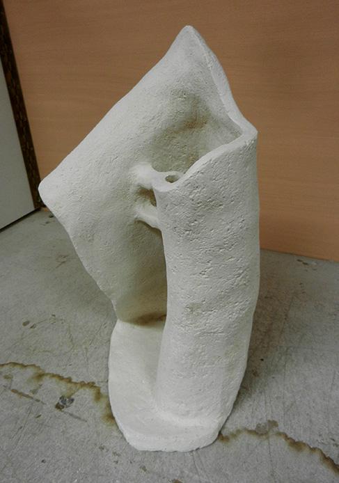 wit beeld van klei