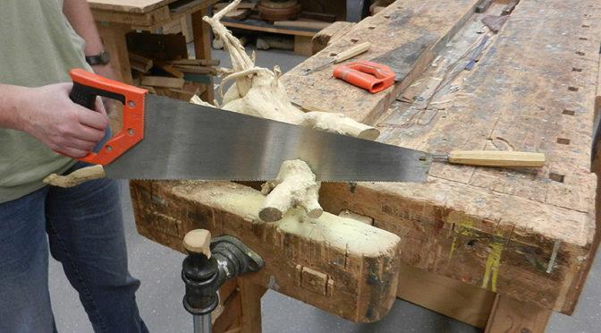 Beeldhouwen in hout en corona