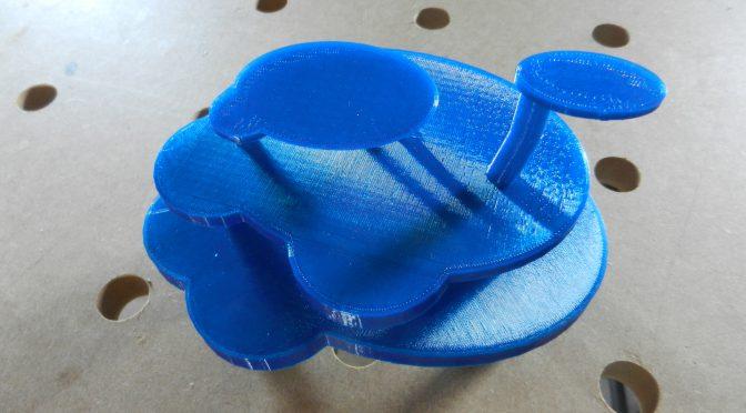 Ontwerpen maken met de 3D printer.
